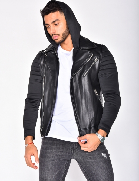 PU Leather Jacket with Zips
