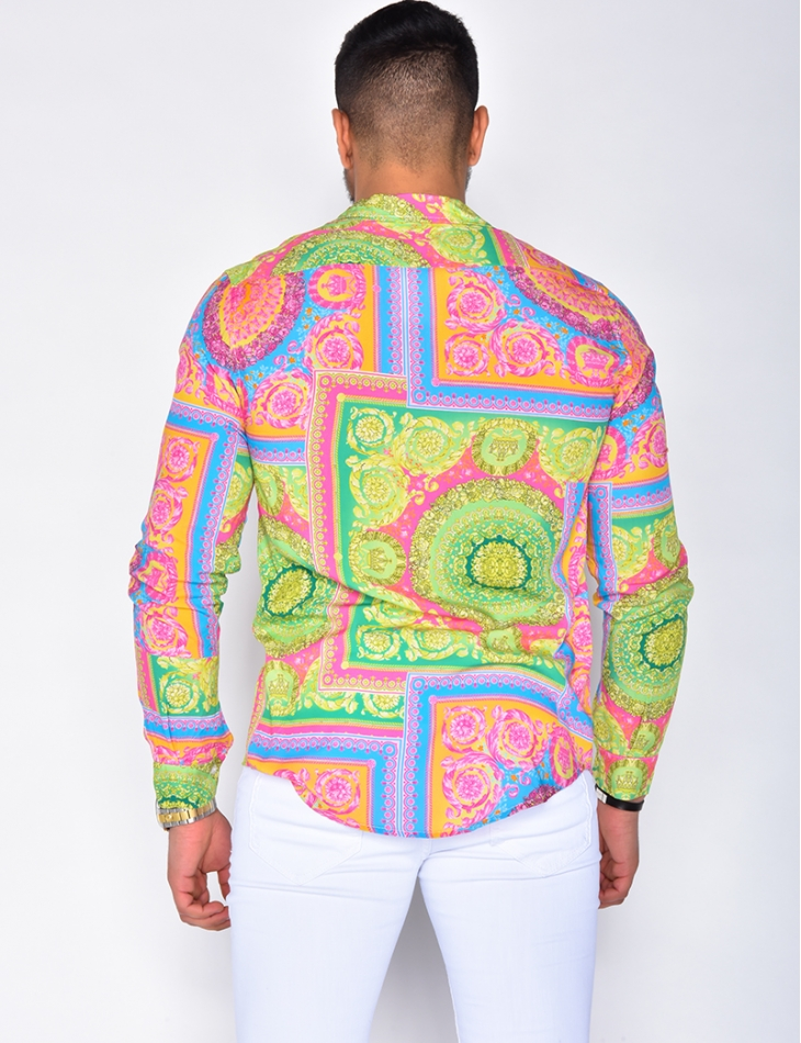 Long Sleeved Shirt with Pattern