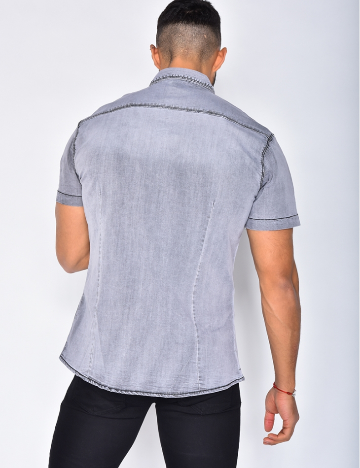 Short Sleeved Denim Shirt