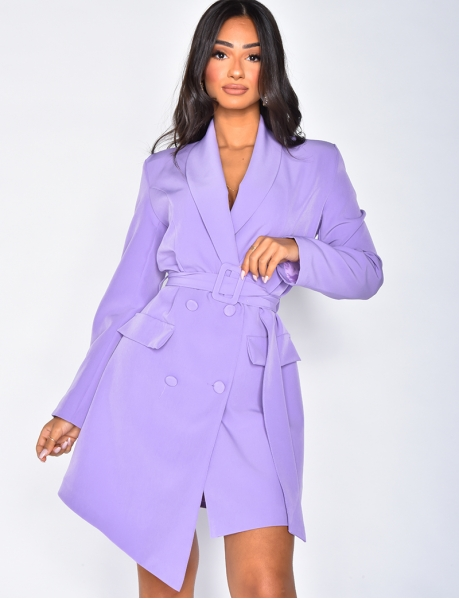 Blazer Dress with Shoulder Pads