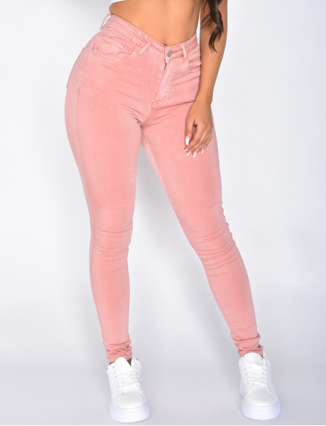 Jeans mit hoher Taille, Skinny Fit
