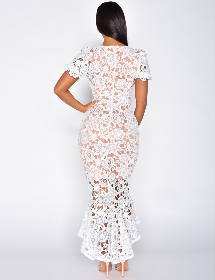 Premium Dress with Embroidery and Lace