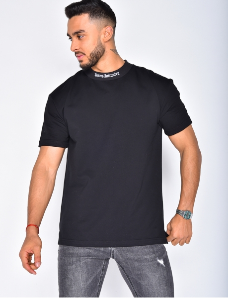 """Jeans Industry"" T-shirt with Round Neckline"