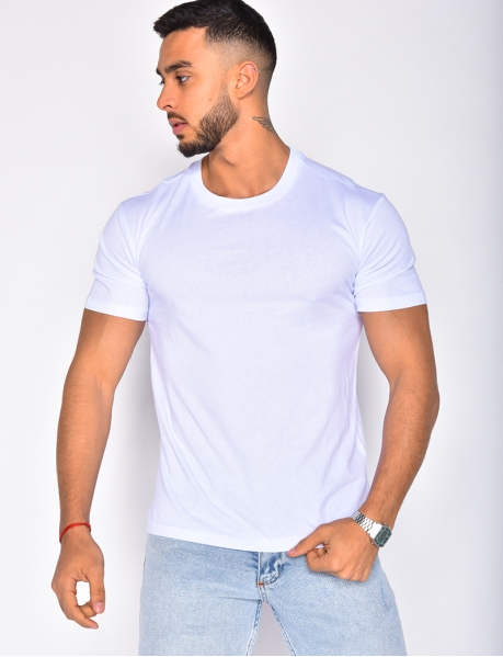 Basic T-shirt with Round Neckline