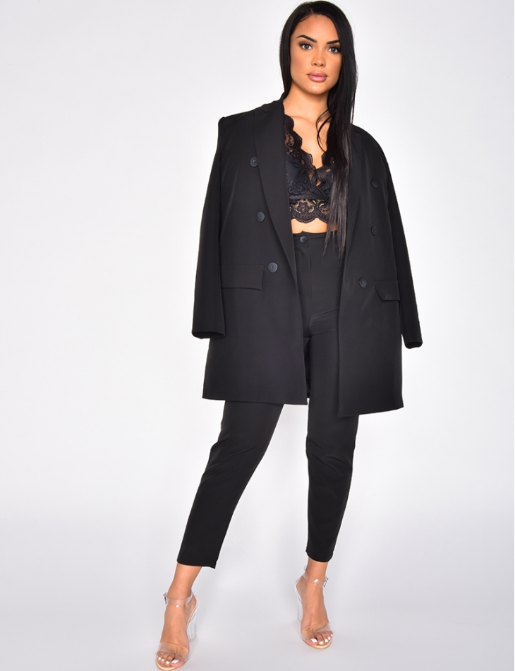 Boyfriend Blazer & High Waisted Trousers Outfit