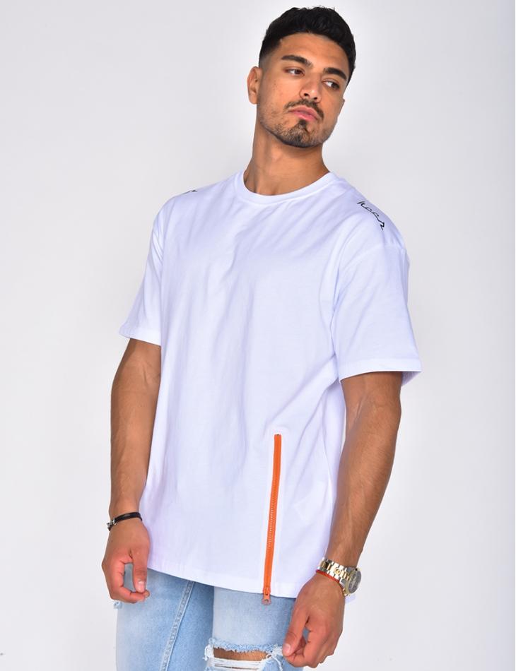 T-shirt à zip