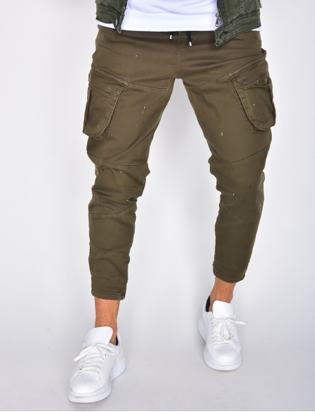 Trousers with Pockets and Paint Flecks
