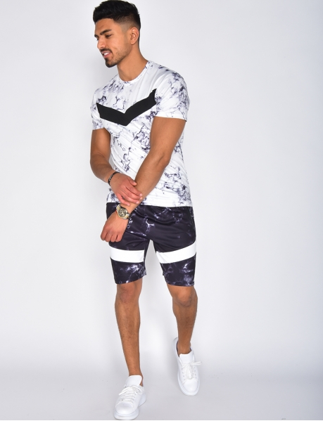 Ensemble t-shirt et short à tâches