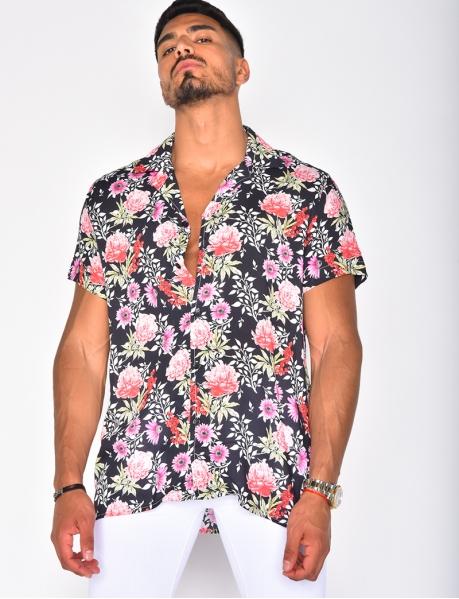 Chemise à motfs fleurs