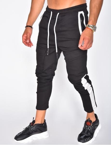Pantalon cargo à bandes