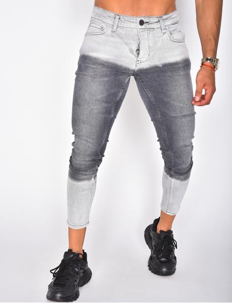 Jeans gris tie & die
