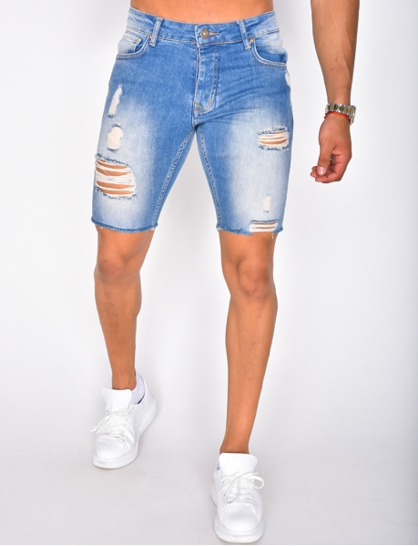 Short en jeans destroy
