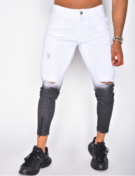 Ripped Tie Dye Jeans