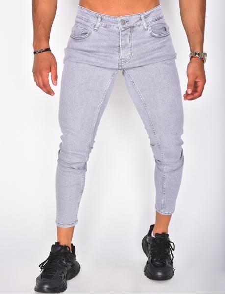 Verwaschene graue Jeans