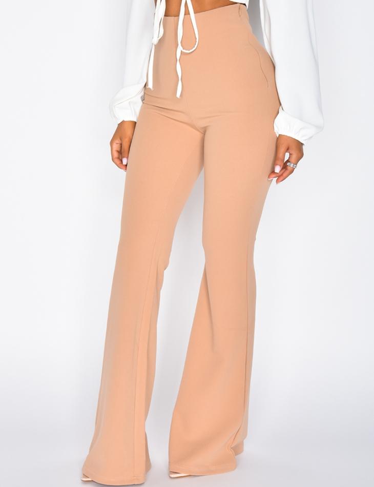 Pantalon taille haute patte d'eph