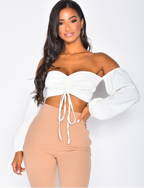 - Gerafftes Crop Top