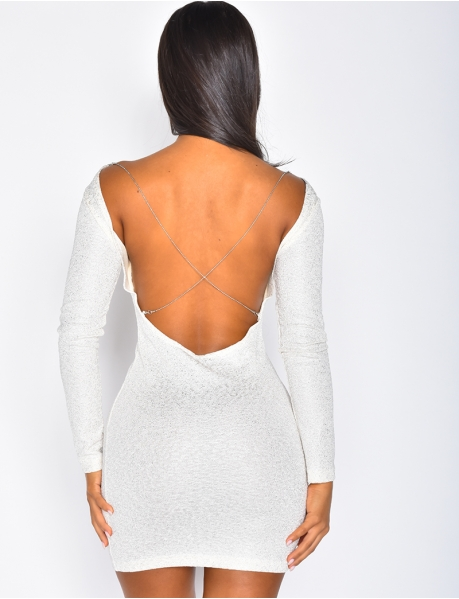 Backless Dress with Chain at the Back