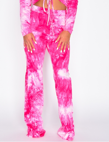 Pantalon patte d'eph tie and dye