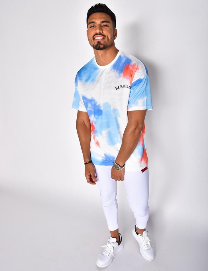 T-shirt oversize à graffitis