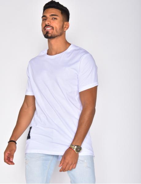 T-shirt oversize à zip