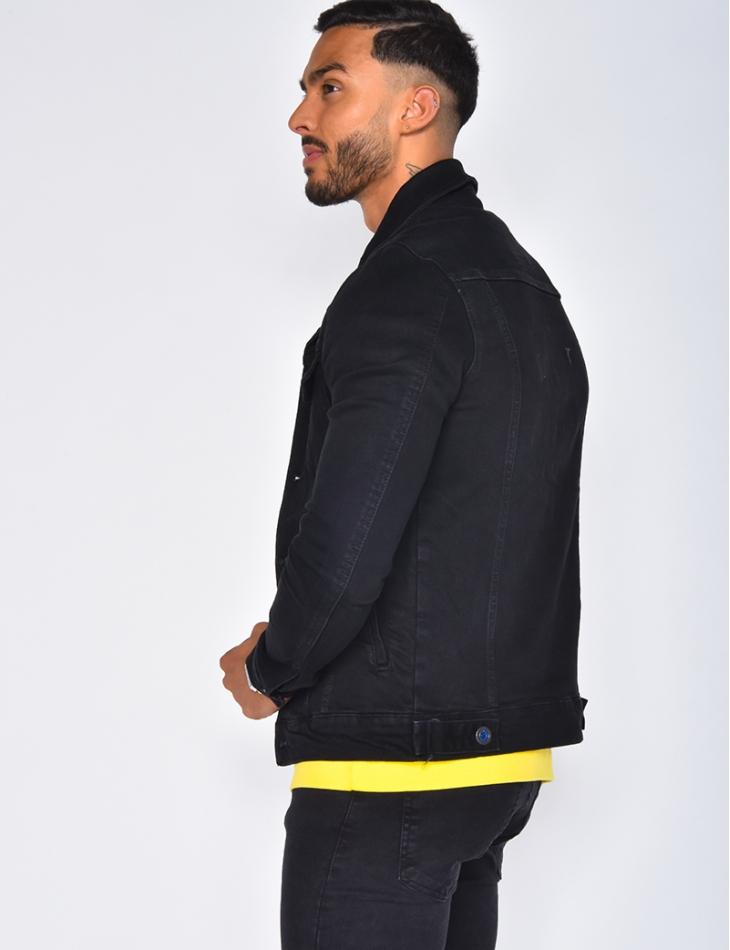 Veste en jeans noir