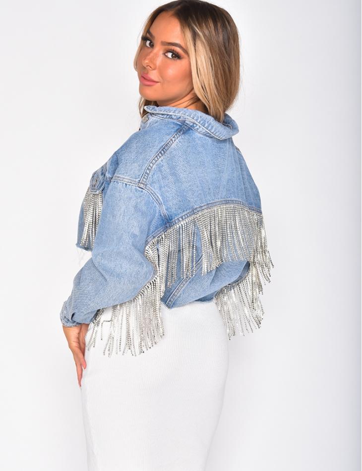Vestes en jeans à strass