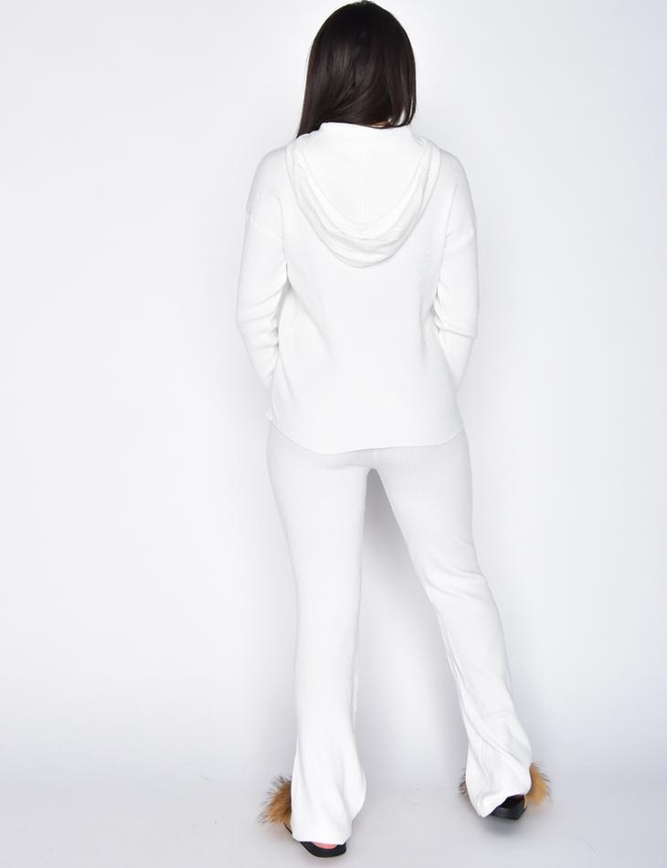 Ensemble loungewear pantalon patte d'eph & pull à capuche
