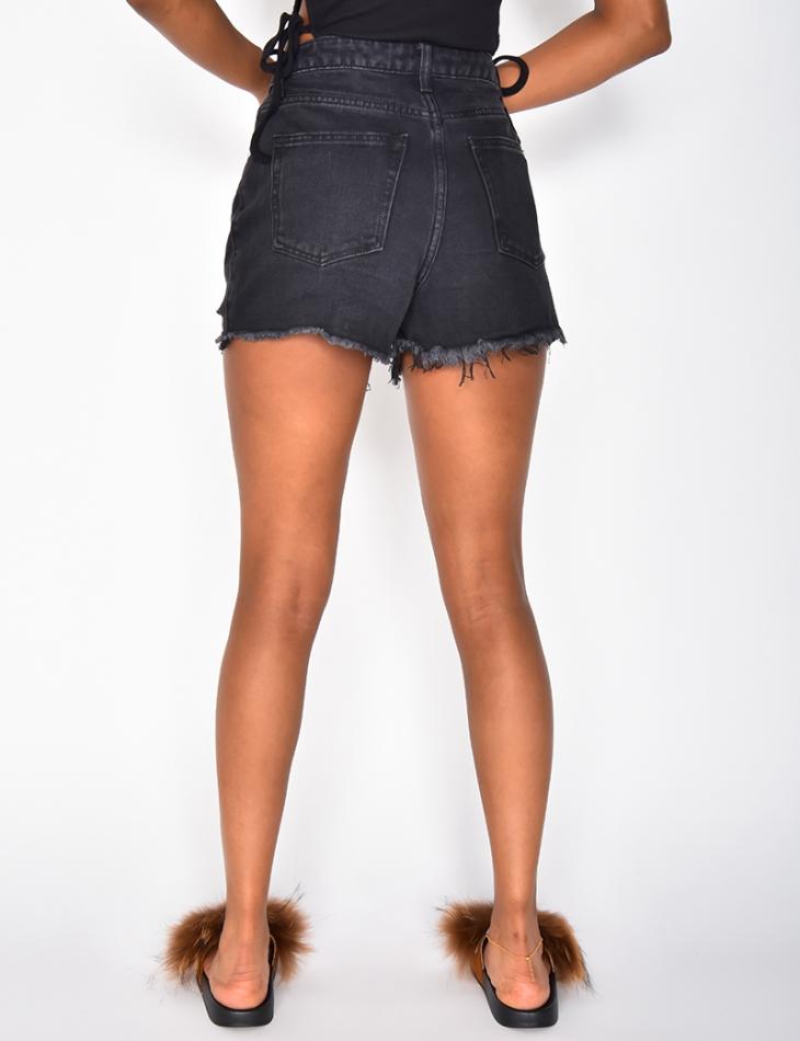 Short en jeans destroy