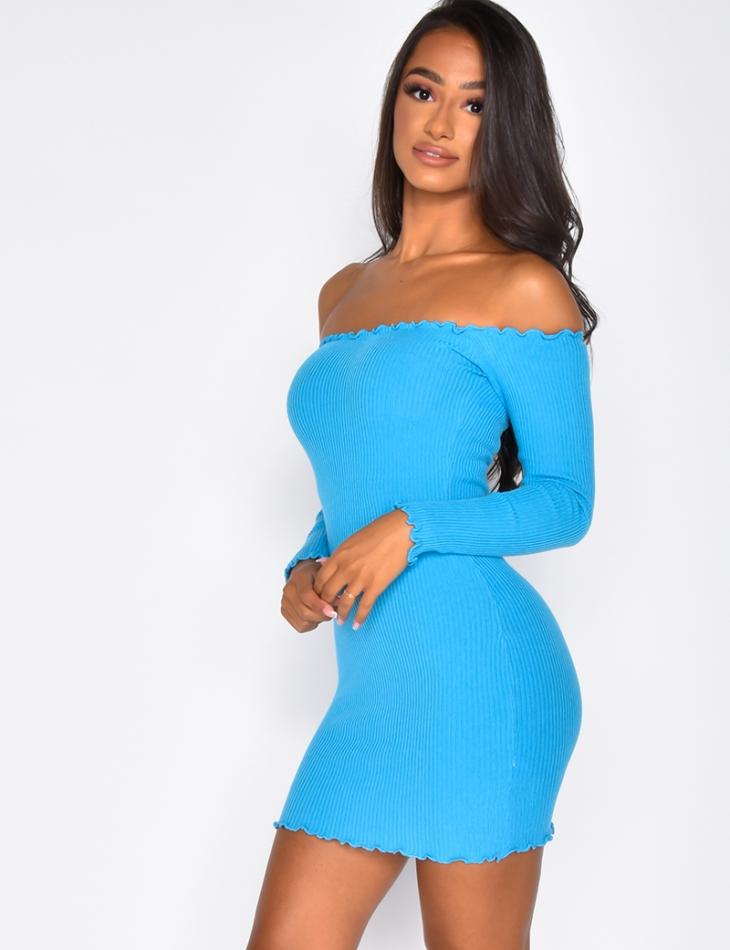 Short Ribbed Dress