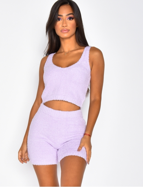 Super Soft Crop Top and Shorts Co-ord