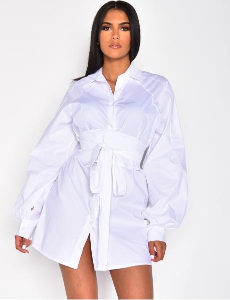 Robe chemise à nouer