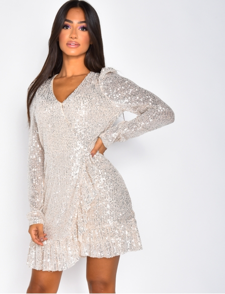 Robe à volants et sequins