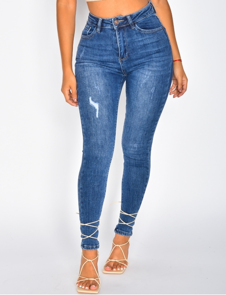 Jeans taille haute skinny