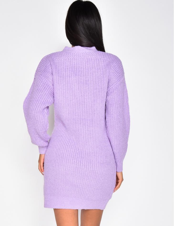 Wool Tie Up Cardigan