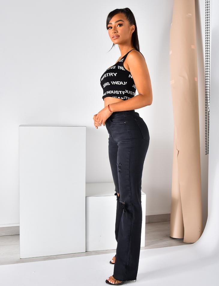 Brassière côtelée Jeans Industry