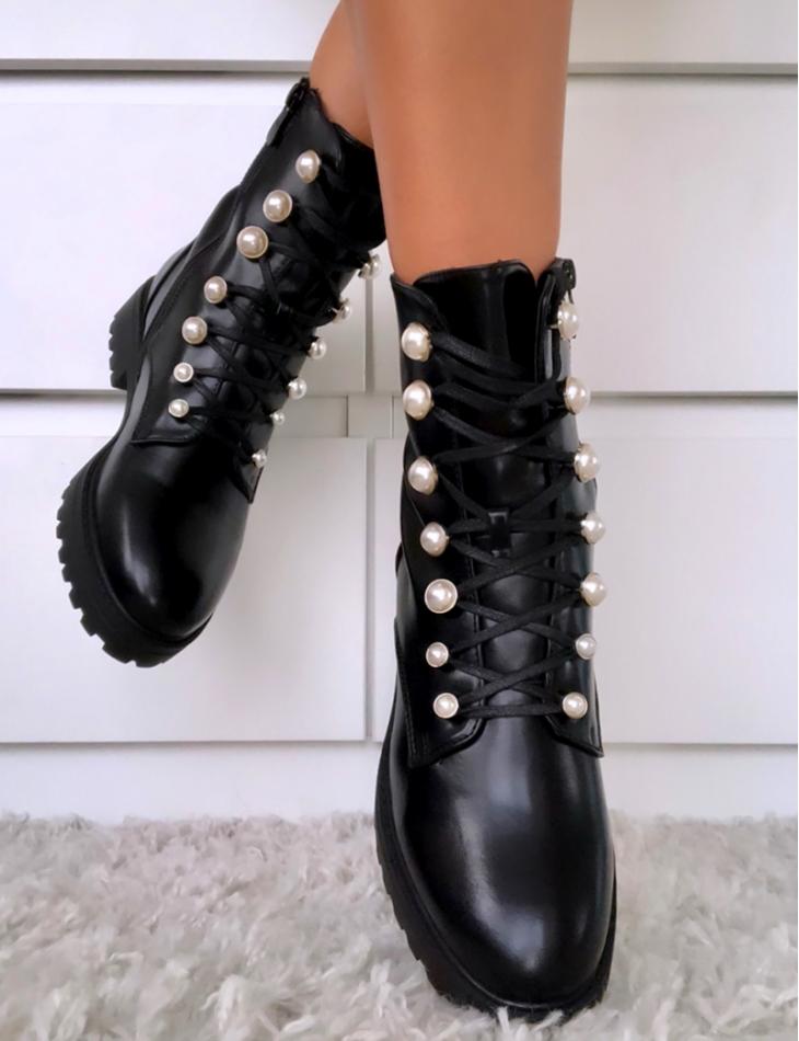 Bottines à perles