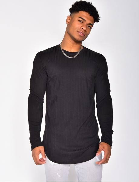 Long Sleeved Textured T-shirt