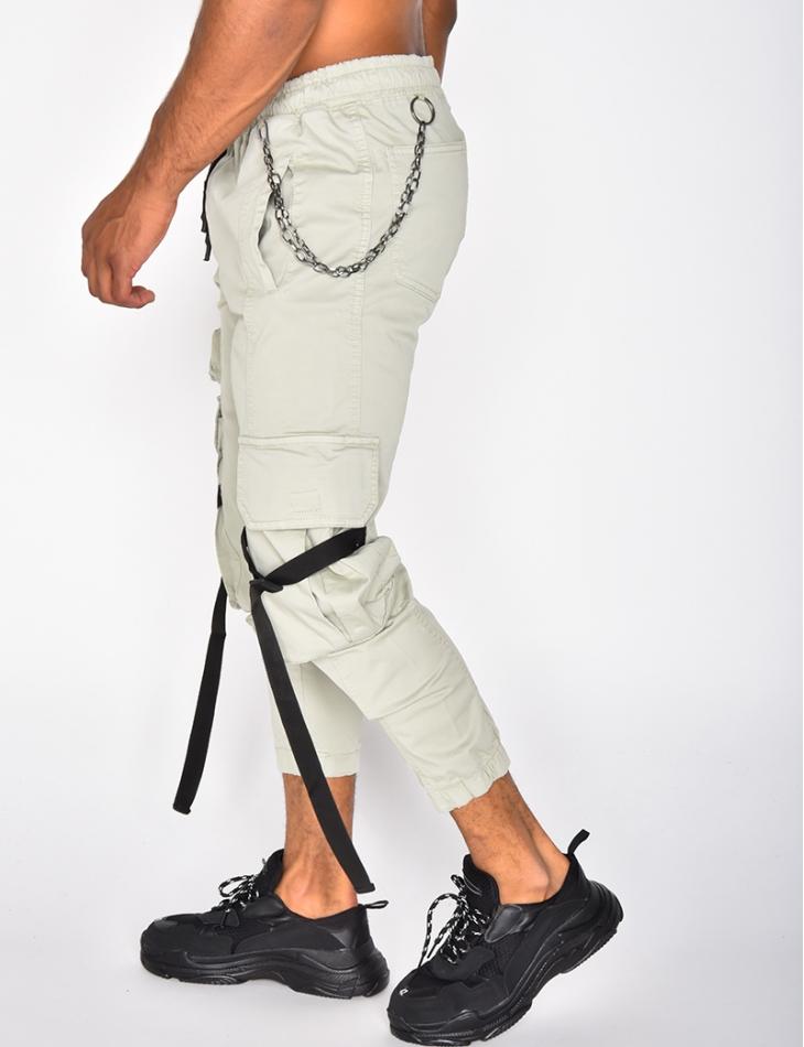 Pantalon cargo à chaine