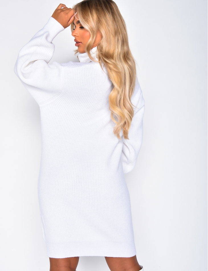 Polo Neck Jumper Dress