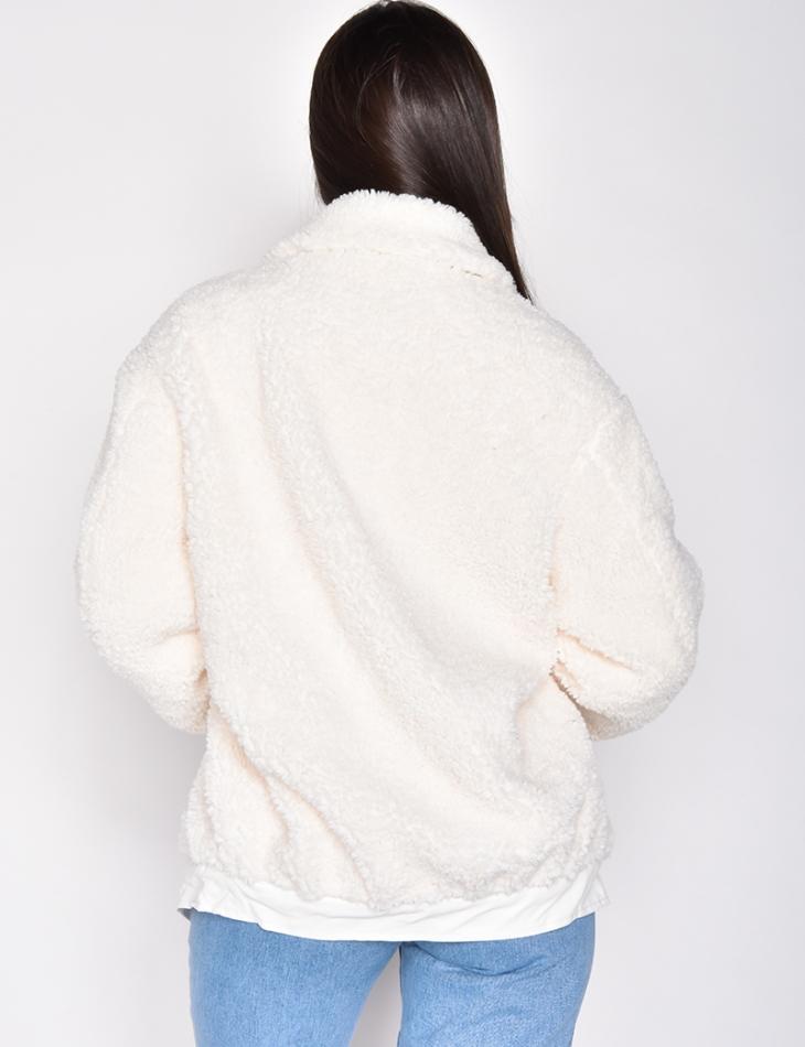 Veste effet peau de mouton