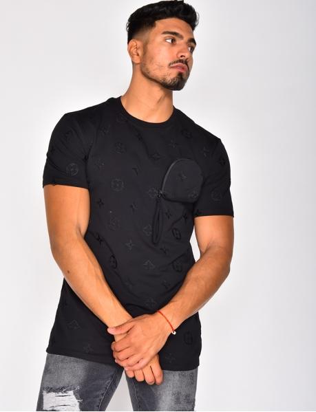 T-shirt à motifs et pochette