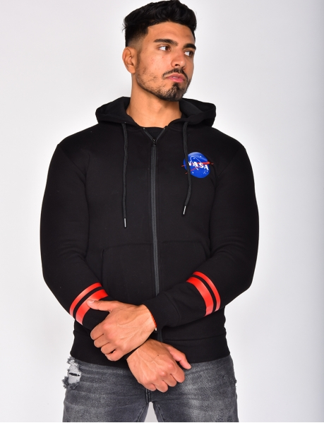 NASA Jacket with Hood and Zip
