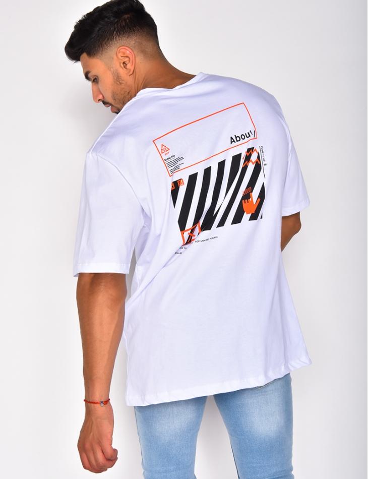 T-shirt with Writing and Graffiti