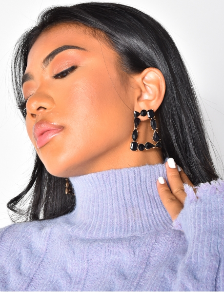 Boucles d'oreilles à strass