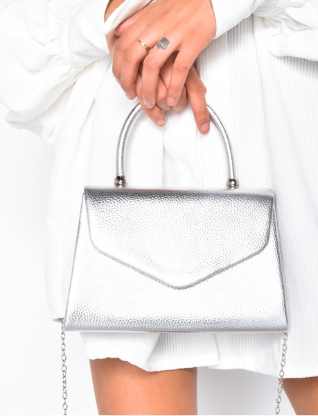 Petit sac enveloppe silver