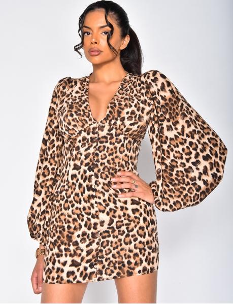 Kleid mit Leopardenmustern