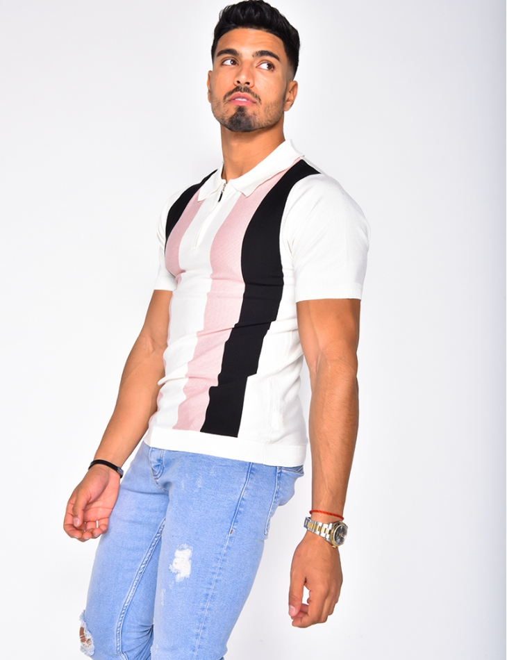 Polo Shirt with Bands