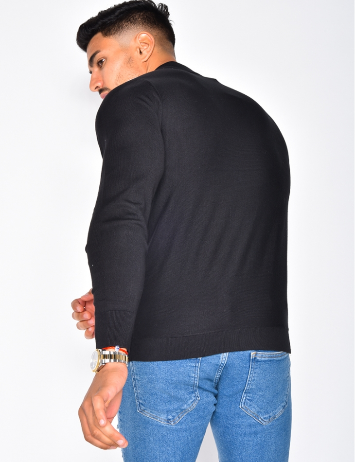 Long Sleeved Polo Shirt with Bands