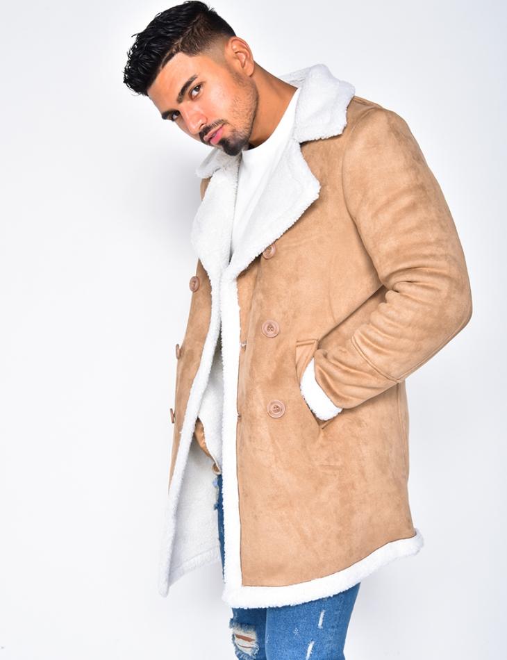 Suedette Jacket with Fur