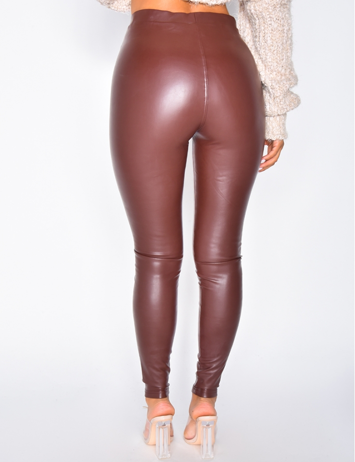 Legging en simili cuir